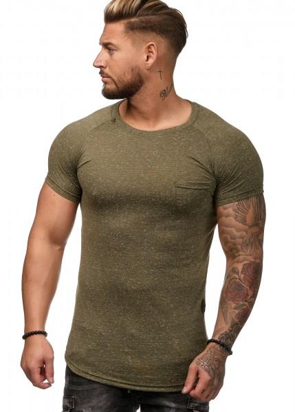 Herren T-Shirt Poloshirt Shirt Kurzarm Printshirt Polo Kurzarm W12C