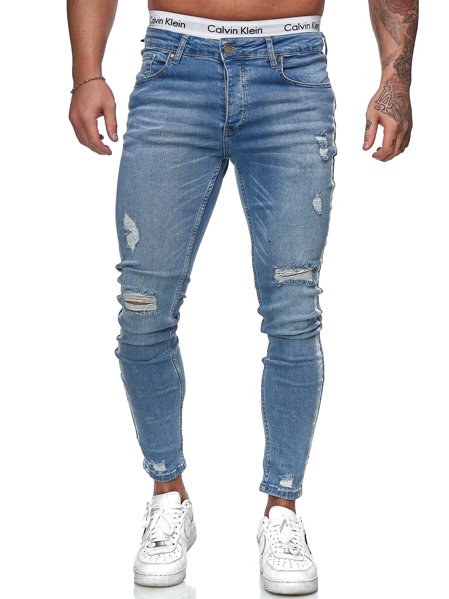 Herren Jeans Hose Slim Fit Männer Skinny Denim Designerjeans KO6008J ST