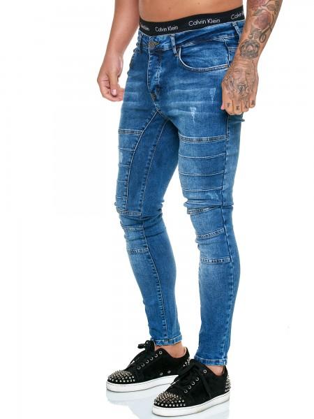 OneRedox Designer Herren Jeans Hose Regular Skinny Fit Jeanshose Basic Stretch Modell J-8010