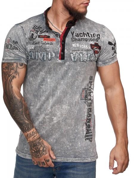 Herren T-Shirt Poloshirt Shirt Kurzarm Printshirt Polo Kurzarm 3DS9