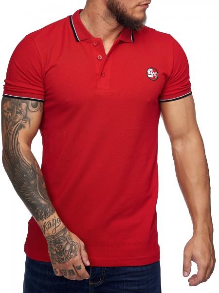 Herren T-Shirt Poloshirt Shirt Kurzarm Printshirt Polo Kurzarm 1403C1
