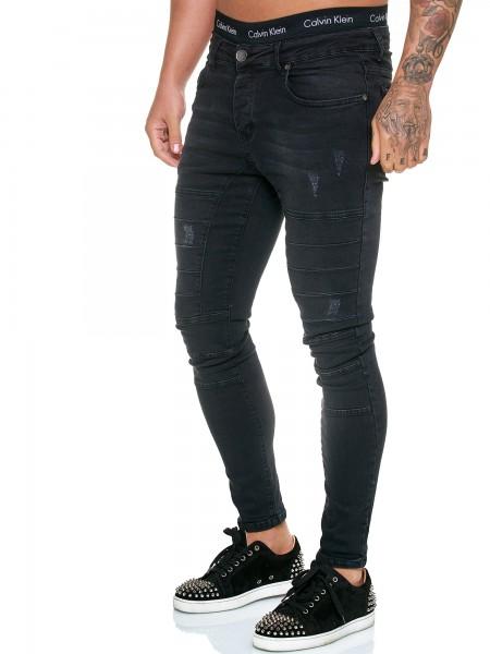 Designer Herren Jeans Hose Regular Skinny Fit Jeanshose Basic Stretch Modell J-8011