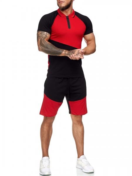 Herren Short-Anzug Jogginganzug Sport Set Traingsanzug Fitness 12119C1W