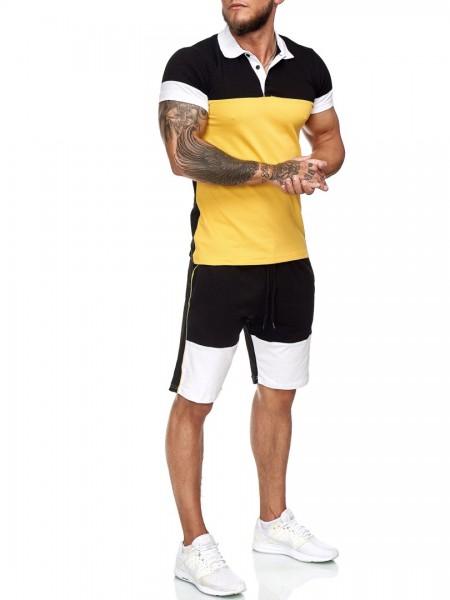 Herren Short-Anzug Jogginganzug Sport Set Traingsanzug Fitness 12114C1W
