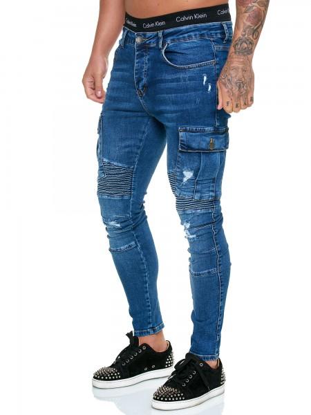 OneRedox Designer Herren Jeans Hose Regular Skinny Fit Jeanshose Basic Stretch Modell J-8009