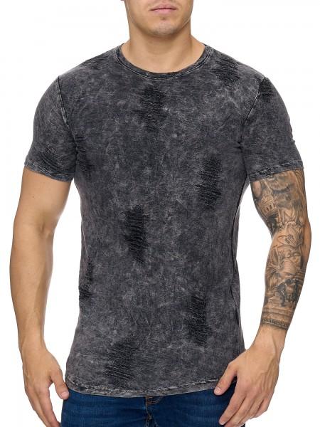 Herren T-Shirt Poloshirt Shirt Kurzarm Printshirt Polo Kurzarm 979C