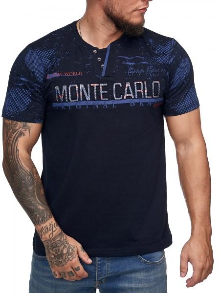 Herren T-Shirt Poloshirt Shirt Kurzarm Printshirt Polo Kurzarm 3DS2