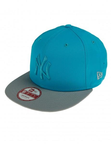New Era 9FIFTY Baseballcap Cap Mütze Cappy New York Yankees Turquoise Grey