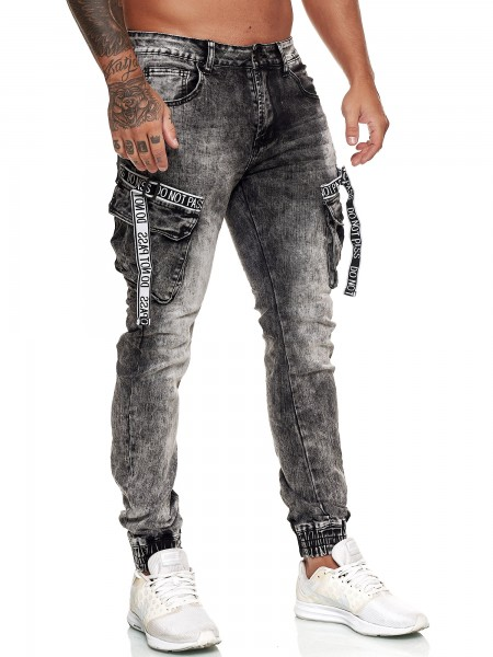 OneRedox Designer Herren Jeans Hose Regular Skinny Fit Jeanshose Basic Stretch Modell E7008