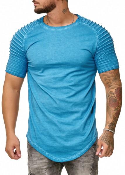 Herren T-Shirt Poloshirt Shirt Kurzarm Printshirt Polo Kurzarm 9052C