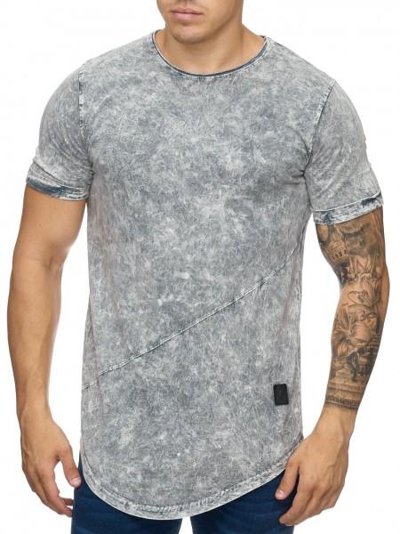 Herren T-Shirt Poloshirt Shirt Kurzarm Printshirt Polo Kurzarm 9033C
