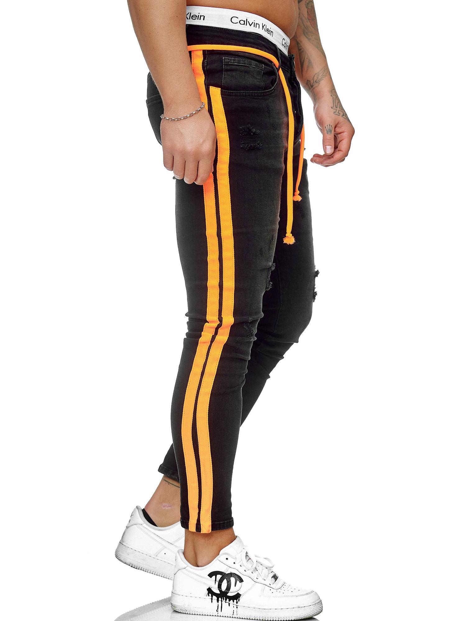 Hommes Jeans Pantalon Slim Fit Hommes Skinny Denim Jeans CREATEUR 5118 C